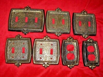 Vintage Lot of 7 Amerock House Outlet Light Switch Cover Plates