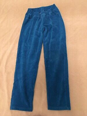 Hanna Andersson 130 Ribbed Velour Pants Leggings Turquoise