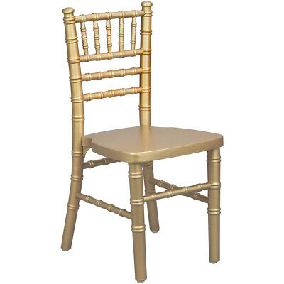 Kids Size Gold Wood Stackable Chiavari Chair