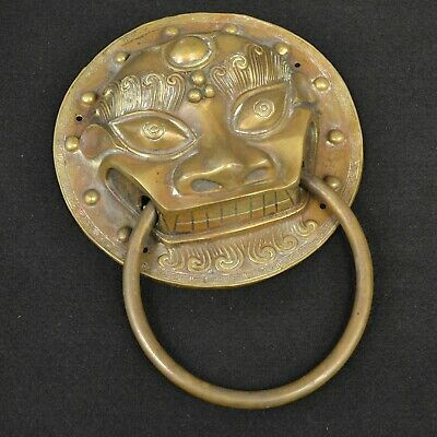 Authentic China Fengshui Brass Expel the evil magical beast Statue Door knocker