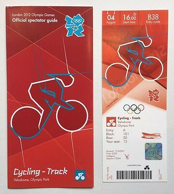 London 2012 Olympic Ticket Cycling Track Laura Trott Gold 4Aug & Spectator Guide