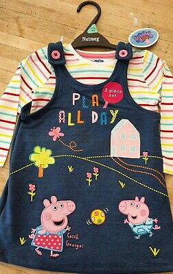 Peppa Pig Dress Toddler Baby Girls Clothing Outfit Ex Chainstore 3-4 years