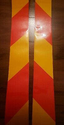 HIGH QUALITY RED//YELLOW CHEVRON REFLECTIVE TAPE 610MM WIDTH 6 LENGTHS
