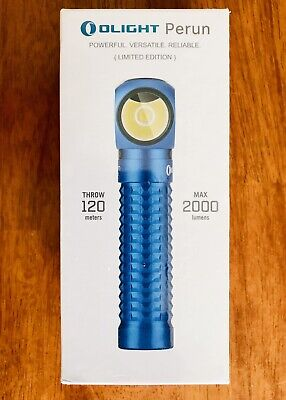 New Olight Blue Perun Limited Edition Rechargeable Right Angle Flashlight Edc