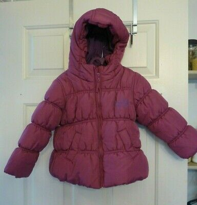 Next Purple Girls Winter Coat Age 3-4 Years Hooded Padded Puffa