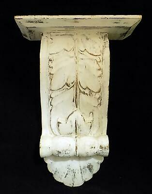 "ONE Wooden Acanthus Leaf Corbel Sconce Shelf Wall Mount 13.5"" T x 9.5"" x 5"" W"