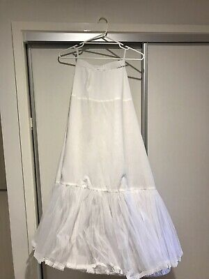 White bridal hoop skirt for wedding gown - size small