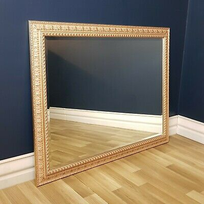 FREE DELIVERY - Large French Provincial Style, Gilt Frame Mirror 1.4m x 1.1m