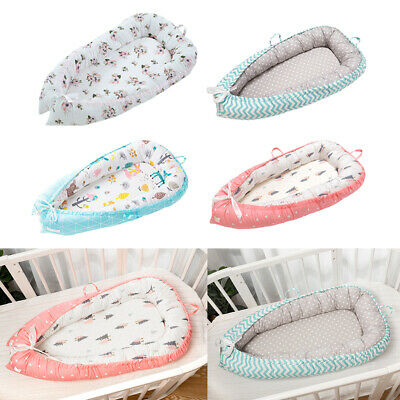 Baby Bassinet Lounger Crib Toddler Sleeping Bed Portable Crib Pillow for Bedroom