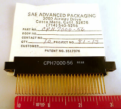 SAE CPH7000-56 Wire Wrap Edge Connector 56 Way 0.1in Pitch With Lugs MBF002K1