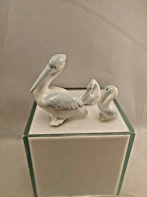Vintage Bone China Miniature Pelican Bird lot of 3 made in germany