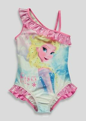 Bnwt Girls swimming costume frozen diamante 2-3 years Disney Elsa Anna Swim Wear