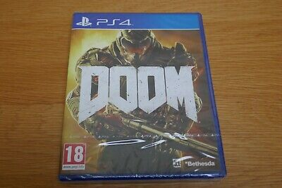 Doom PS4 Game for Sony PlayStation 4 BRAND NEW / FACTORY SEALED