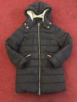 Girls Thick Black Warm Winter Coat With Hood. 9 yrs. Next.