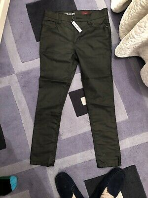 New Next Boys Learher Look Trousers Aged 11