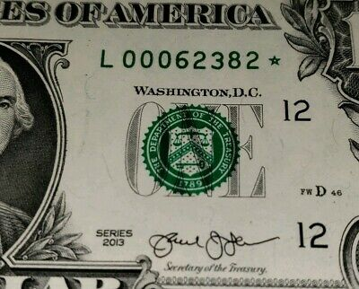2013 STAR NOTE $1 Dollar Uncirculated RICHMOND * GEM,Low Number