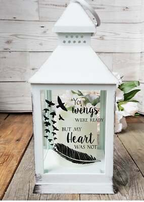 Memorial Lantern Remembrance Gift Funeral Centrepiece In Memory Of Candle
