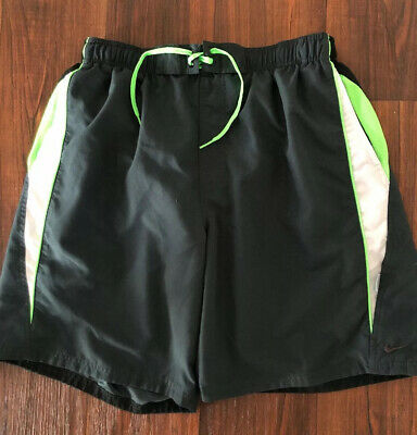 Mens Nike Dark Gray and Green Volley Lined Swim Trunk Shorts - Size XL