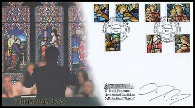 Actor NEIL PEARSON Signed 2009 GB Christmas Buckingham FDC