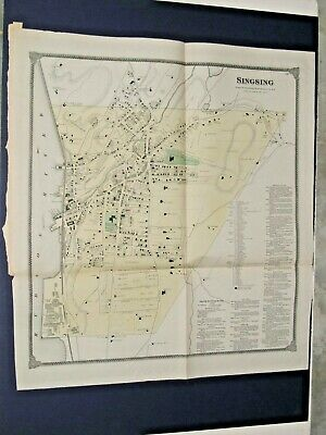 Singsing, Ny.,1867 Map, Town Of Ossining