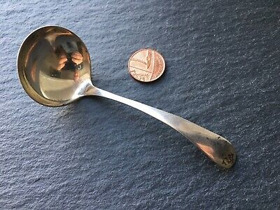 Vintage Solid Sterling Silver Sauce / Condiment Ladle Spoon