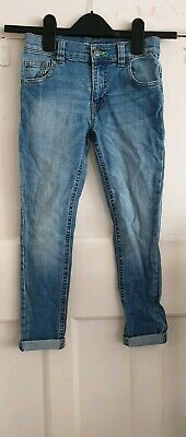 Blue Zoo Boys 7 years super skinny light blue jeans button & zip fly Debenhams