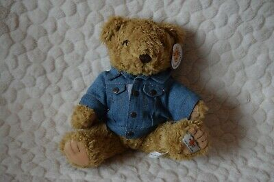 Hard Rock Cafe Collectible Bears New York with Denim Jacket Plush with Tag