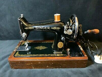 Vintage 1937 Singer Sewing Machine with Case - Fabulous Rare Model!!