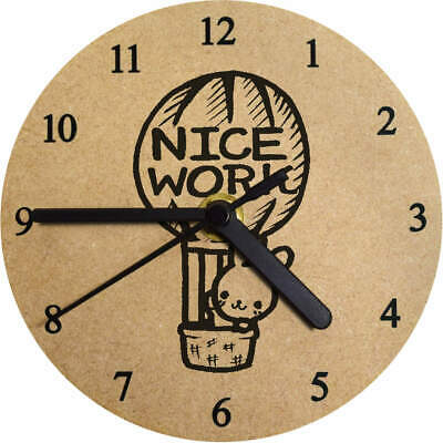 'Nice Work Balloon' Printed Wooden Wall Clock (CK000906)