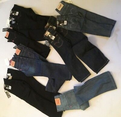 Joblot Boys Levis Jeans Black&Blue Mixed 13 Pairs 2,3,5,6,8Yrs  Rrp£716 Now£179