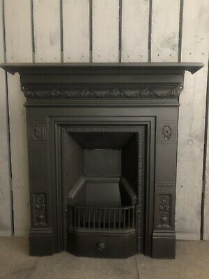 Antique Victorian BICLAM cast iron fire  woodburning   DELIVERY FREE OR £25 Uk