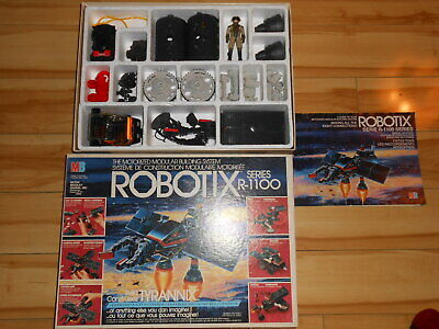 ROBOTIX R-1100  TYRANNIX Vintage toy 1985 COMPLETE IN BOX, WORKING, LUBED
