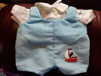 Nice Original Cabbage Patch Blue Romper with Sailboat