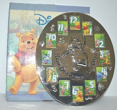 Silver Plated Disney Winnie the Pooh Photo Picture Frame Hum Dee Dum 1 -12 Mths