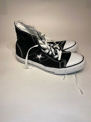 CONVERSE ONE STAR Hi black sneakers Men's sz 9.5 M 103638FT