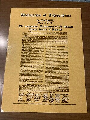 Declaration Of Independence In Congress July 4, 1776 The Unanimous Declaration