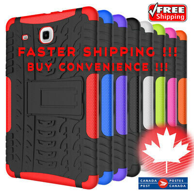 Samsung Galaxy Tab E 8.0 SM-T377 T378V Rugged Stand Rubber Shockproof Case Cover