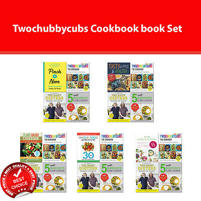 Twochubbycubs Cookbook Books Set Hairy Dieters Make It Easy, Pinch of Nom Food