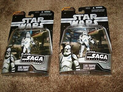 "Star Wars 2006 (Lot Of 2) Both  ""Clone Trooper Fifth Fleet Security-Saga 059"""