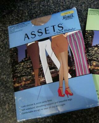 NOS Assets Spanx Full Length Bodyshaping Shaper Perfect Pantyhose Size 2 Buff