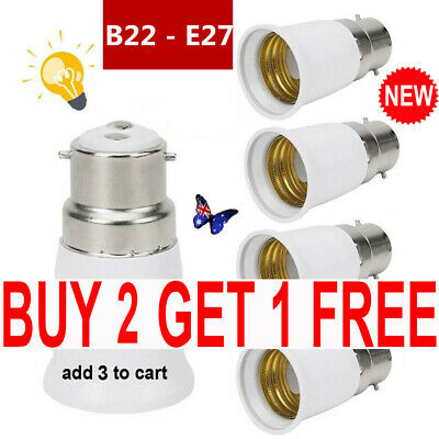 6/12x B22 to E27 Lamp Light Bulb BAYONET Cap B22 To EDISON Screw E27 Converter T