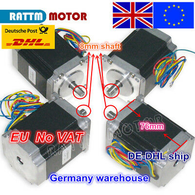 【EU】 4Pcs Nema23 Schrittmotoren Stepper Motor 270oz-in 76mm 3.0A for CNC Router