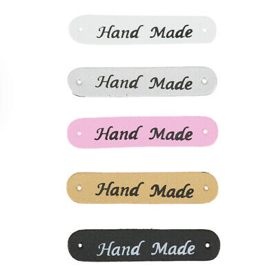 20pcs PU Leather Tags On Clothes Garment Labels DIY Clothing Sewing Patches F…