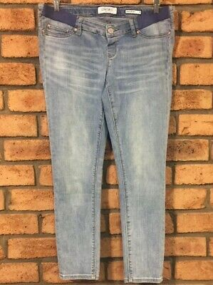 Jeanswest Womens Delevine Maternity Mid Rise Skinny Ankle Jeans Size 12