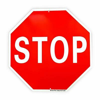 "Stop Sign Traffic Slow Warning Sign, 12""x 12"" Octagon Aluminum Reflective Sign"