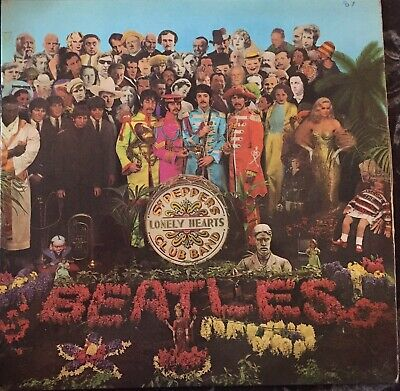 "The Beatles Sgt. Pepper's Lonely Hearts Club Band first press 1967 12"" vinyl"