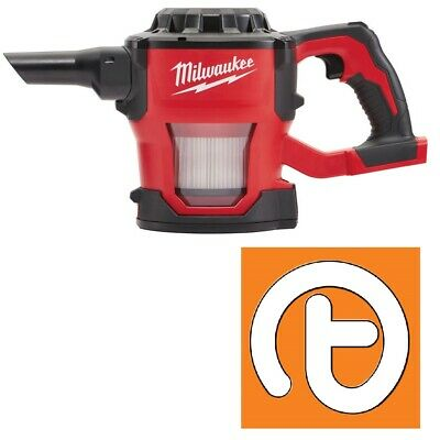 Milwaukee M18CV-0 18V Compact Hand Vac – Body Only