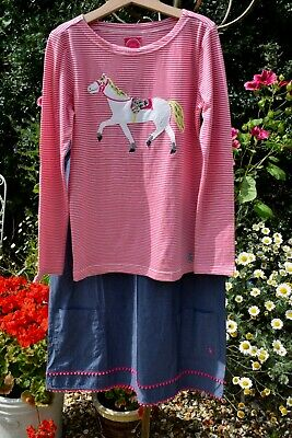 Girls Joules age 11-12 2 piece outfit dress top NEW with tags