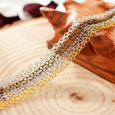 5 Meters 2MM Long Cable Chain Link in Bulk for Necklace Jewelry Accessories