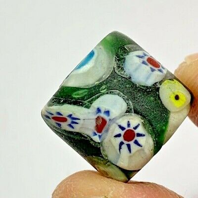 EXCEPTIONAL SCARCE-PHOENICIAN GLASS COLORED GLASS BEAD  6.6gr 15mm